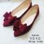 รองเท้าคัทชูสักหลาดนิ่มแต่งโบว์ (สีแดง) thumbnail 1