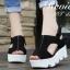 รองเท้าส้นเตารีดเมจิกเทปส้นหยัก (สีครีม) thumbnail 4