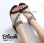 รองเท้าลำลองส้นเตารีดแต่งอะไหล่ (สีดำ) thumbnail 2