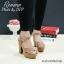 พร้อมส่ง : รองเท้าส้นสูงกำมะหยี่ (สีครีม) thumbnail 4