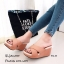 รองเท้าลำลองส้นเตารีดสายไขว้ (สีครีม) thumbnail 4