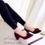 รองเท้าคัทชูแต่งหัวเข็มขัด (สีดำ) thumbnail 4