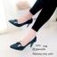 รองเท้าคัทชูซาตินแต่งอะไหล่ (สีกรม) thumbnail 2