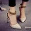 รองเท้าส้นเข็มแต่งทอง (สีดำ) thumbnail 7