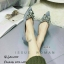 รองเท้าคัทชูแต่งอะไหล่เพชรผีเสื้อ (สีดำ) thumbnail 9