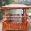 ศาลาบาหลี เสาเหลี่ยมและตรง หลังคาสองชั้น มีพนักพิงและม้านั่งสามด้าน ไม้เนื้อแข็งรวม ศาลาไม้สำหรับนั่งเล่นในสวน thumbnail 1