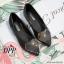 รองเท้าคัทชูส้นแบนแต่งหัวใจ (สีดำ) thumbnail 4