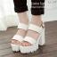 รองเท้าส้นตึก Style Nanda (สีขาว) thumbnail 2