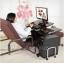 Pre-order โต๊ะทำงาน โต๊ะวางคอมพิวเตอร์ โต๊ะวางแล็ปท้อป แบบมัลติฟังก์ชั่นมีที่วางคีย์บอร์ด ปรับระดับได มีล้อเลื่อน สีดำ thumbnail 6