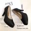 รองเท้าคัทชูส้นสูงทรงหัวกลม (สีดำ) thumbnail 3