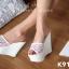 รองเท้า Platform สไตล์เกาหลี (สีขาว) thumbnail 7