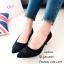 รองเท้าคัทชูปักลายดอกไม้ (สีเทา) thumbnail 5