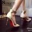 รองเท้าส้นเข็มแต่งทอง (สีครีม) thumbnail 11