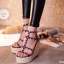 พร้อมส่ง : รองเท้าส้นตึก Valentino Style (สีน้ำเงิน) thumbnail 2