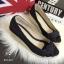 พร้อมส่ง : รองเท้าส้นเตารีดผ้ายีนส์ (สียีนส์ดำ) thumbnail 2