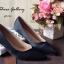 พร้อมส่ง : รองเท้าคัชชูผ้าซาติน (สีดำ) thumbnail 2