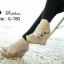 รองเท้าส้นเตารีดฉลุลาย (สีเทา) thumbnail 2