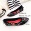 รองเท้าส้นแบนลายดอก Style Gucci (สีดำ) thumbnail 3