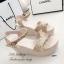 รองเท้าส้นเตารีดกลิตเตอร์ (สีเงิน) thumbnail 3