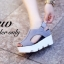 รองเท้าส้นเตารีดเมจิกเทปส้นหยัก (สีครีม) thumbnail 10