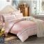 (Pre-order) ชุดผ้าปูที่นอน ปลอกหมอน ปลอกผ้าห่ม ผ้าคลุมเตียง ผ้าฝ้ายพิมพ์ลายจุดโทนสีชมพู thumbnail 1