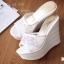 รองเท้า Platform สไตล์เกาหลี (สีขาว) thumbnail 8