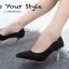 รองเท้าคัทชูส้นโลหะทรงหัวแหลม (สีดำ) thumbnail 4