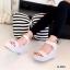 รองเท้าส้นเตารีดลาย Pokka Dot (สีเทา) thumbnail 1