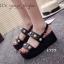 รองเท้า Platform แต่งมุก (สีดำ) thumbnail 3