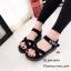 รองเท้าลำลองส้นเตารีดแต่งลาย (สีเทา) thumbnail 4