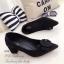 รองเท้าคัทชูแต่งหัวเข็มขัด (สีดำ) thumbnail 1