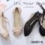 รองเท้าคัทชูลูกไม้ส้นเตารีด (สีครีม) thumbnail 6