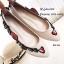 รองเท้าส้นแบนลายดอก Style Gucci (สีดำ) thumbnail 6