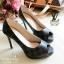 รองเท้าคัทชู Loius Vuitton Damier (สีดำ) thumbnail 1