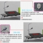 Pre-order ชุดโต๊ะคอมพิวเตอร์ โต๊ะแล็ปท้อปสีชมพู แบบมีพัดลมระบายอากาศ มีช่อง USB และโคมไฟ LED ส่องสว่าง thumbnail 6