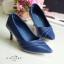 รองเท้าส้นสูงหนังนิ่ม (สีน้ำเงิน) thumbnail 1