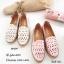 รองเท้าคัทชูทรงสวมฉลุลาย (สีครีม) thumbnail 5