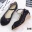 รองเท้าคัทชูลูกไม้ส้นเตารีด (สีครีม) thumbnail 4
