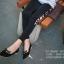 รองเท้าคัทชูหัวแหลมแต่งโบว์ (สีดำ) thumbnail 3