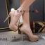 รองเท้าคัทชูส้นสูงทรงเปิดนิ้ว (สีชมพู) thumbnail 3