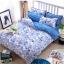 (Pre-order) ชุดผ้าปูที่นอน ปลอกหมอน ปลอกผ้าห่ม ผ้าคลุมเตียง ผ้าโพลีเอสเตอร์พิมพ์ลายการ์ตูนแฟนซีลายเส้นสีฟ้าขาว thumbnail 1