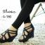 รองเท้าส้นเตารีดฉลุลาย (สีเทา) thumbnail 4