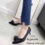 รองเท้าคัทชูซาตินแต่งโบว์ (สีครีม) thumbnail 7