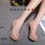 รองเท้าคัทชูส้นสูงทรงเปิดนิ้ว (สีชมพู) thumbnail 1