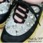 พร้อมส่ง : รองเท้าผ้าใบ MIUMIU Jeweled Satin Lace-Up Sneaker (สีกรม) thumbnail 4