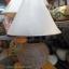 โคมไฟตั้งโต๊ะ ทำจากแจกันดินเผาด่านเกวียน ลายจุด ทรงโอ่งน้ำ สีโคลนน้ำตาล thumbnail 1
