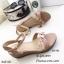 รองเท้าส้นเตารีดแต่งดอกไม้ (สีชมพู) thumbnail 2