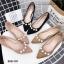รองเท้าหัวแหลมแต่งมุก (สีกากี) thumbnail 10