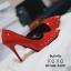 รองเท้าคัทชูหน้าวีแต่งอะไหล่ (สีแดง) thumbnail 2