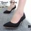 รองเท้าคัทชูส้นโลหะทรงหัวแหลม (สีดำ) thumbnail 5